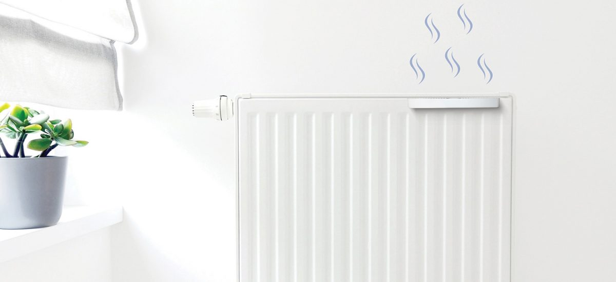 Humidity is created using the radiator's heat, releasing beneficial water vapour into the room.
